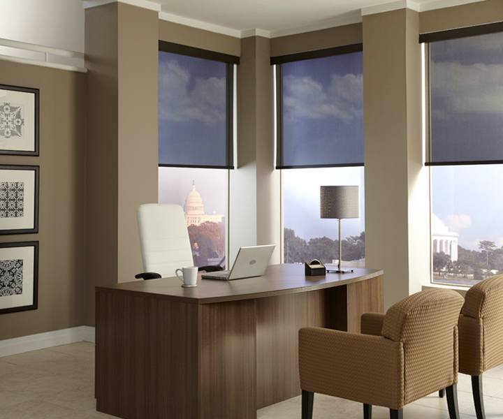 office lighting with motorized shades Commercial Automation Scottsdale AZ