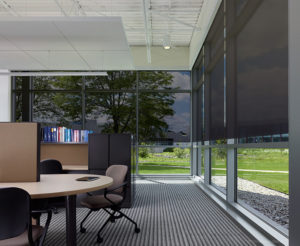 office building thermal management shading systems